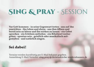 Sing & Pray - Session